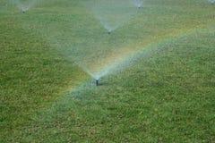 Rainbow sull'erba Immagini Stock Libere da Diritti