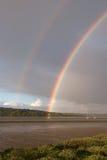 Rainbow sulla barca Fotografia Stock Libera da Diritti
