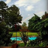 Rainbow on a summer afternoon Royalty Free Stock Image