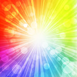 Rainbow sun royalty free illustration