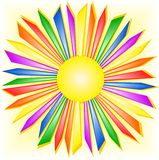 Rainbow sun Stock Image