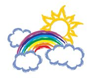 Rainbow with the sun. Stock Photography