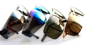 Rainbow sun glasses Stock Photo