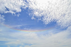 Rainbow sun halo Stock Photography