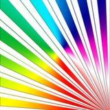 Rainbow sunbeam design on white Royalty Free Stock Image