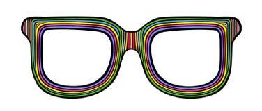 Rainbow sunglasses. Styled rainbow sunglasses, illustration vector illustration