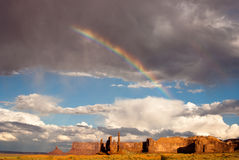 Rainbow and Sunshine at Monument Valley Royalty Free Stock Image