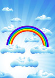 Rainbow_in_the_sunny_day Stock Photos