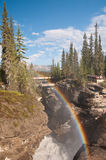 Rainbow at Sunwapta Falls Stock Photography