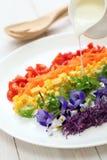 Rainbow super salad stock image