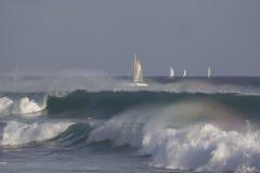 Rainbow surf Stock Photos