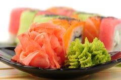 Rainbow sushi Royalty Free Stock Image