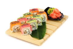 Rainbow sushi Stock Photos
