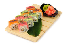 Rainbow sushi Royalty Free Stock Photography