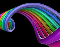 Rainbow swirl Royalty Free Stock Photos