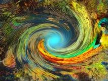 Rainbow swirl Stock Photo
