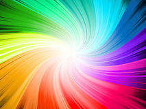 Rainbow swirl. Rainbow coloured abstract swirl background stock illustration