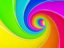 Rainbow swirl. 3d render of rainbow colorful spiral background Royalty Free Stock Photo