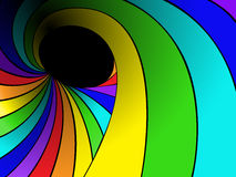 Rainbow swirl Royalty Free Stock Photos