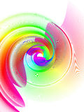 Rainbow swirl. Abstract background, rainbow swirl, stylized waves, place for text Stock Photos
