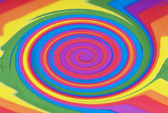 Rainbow Swirl. An abstract photograph of a swirling rainbow Stock Image