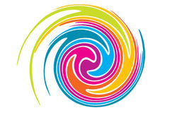 Rainbow swirl Stock Photo