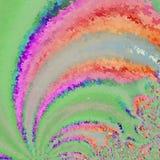 Rainbow swirl aquarelle rays on green background. Rainbow swirl aquarelle ray on green background royalty free illustration