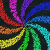 Rainbow swirl chalk image generated background Stock Photos