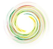 Rainbow swirl design Stock Photo