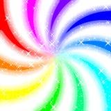 Rainbow swirl glowing background Royalty Free Stock Image