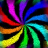 Rainbow swirl graffiti mosaic generated texture Stock Photos