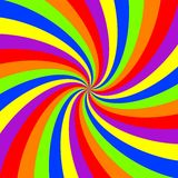 Rainbow swirl pattern Royalty Free Stock Image