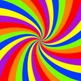 Rainbow swirl pattern royalty free stock image
