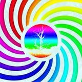 Rainbow swirl tree symbol generated texture Royalty Free Stock Photography