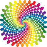 Rainbow swirl vector abstract Stock Image