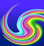 Rainbow swirly background vector. Design illustration Stock Photos