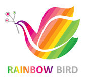 Rainbow Bird. Royalty Free Stock Images