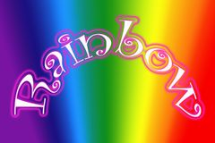 Rainbow symbol illustration Royalty Free Stock Images