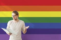 Rainbow Symbol Love Free Homosexual Concpet.  stock image