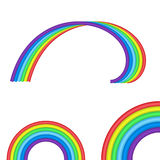 Rainbow symbol set Royalty Free Stock Photography