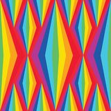 Rainbow symmetry stylish diamond tall vertical seamless pattern stock illustration