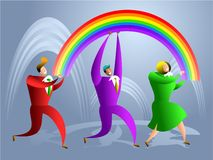 Rainbow team Royalty Free Stock Image