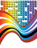 Rainbow Tech Wave Royalty Free Stock Photography