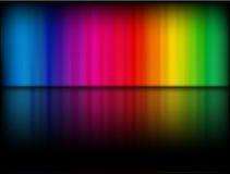 Rainbow template stock image