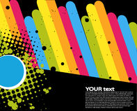 Rainbow text concept Stock Photos