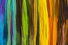 Rainbow textiles background Stock Photography