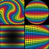 Rainbow Textures vector illustration