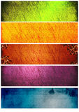 Rainbow textures and backgrounds for banners Royalty Free Stock Images