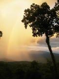 Rainbow. Thailand, rainbow after rain on hill Royalty Free Stock Photo