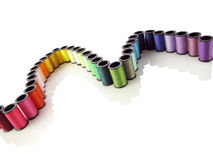Rainbow of thread Stock Photography